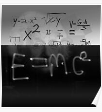 Albert Einstein - Mathematics E=mc2 Relativity Abstract Poster