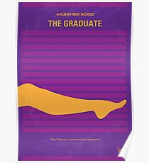 No135 My THE GRADUATE minimal movie poster Poster