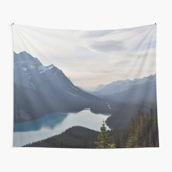 Mountain Lake Forest Dream Tapestry
