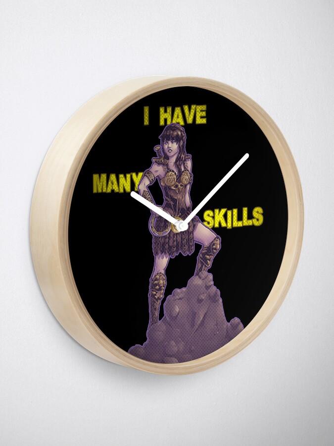 Alternate view of She Has Many Skills Clock