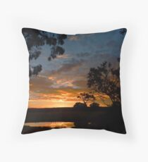 The End of a Lovely Day Throw Pillow