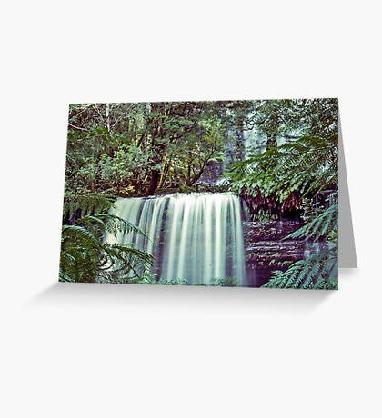 Tasmania's Russell Falls Greeting Card