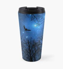Wisdom Of The Night - Blue Travel Mug