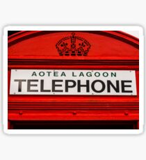 Telephone Booth Sign Sticker