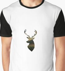 Deer in the Mountains Graphic T-Shirt