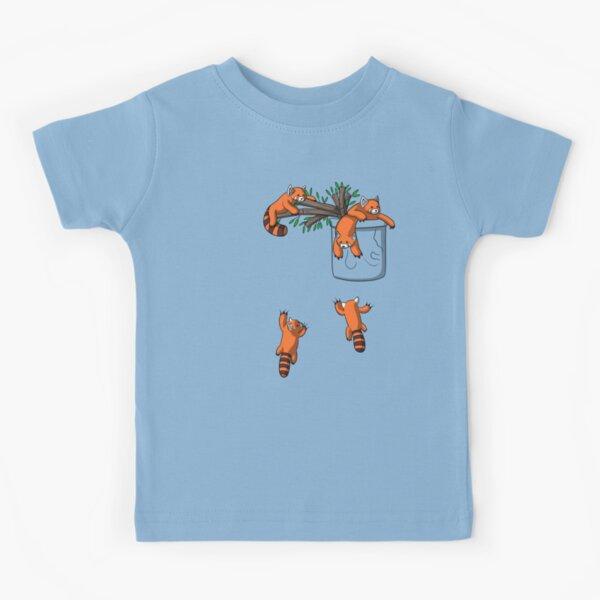 Red Panda Bear Pocket Kids T-Shirt