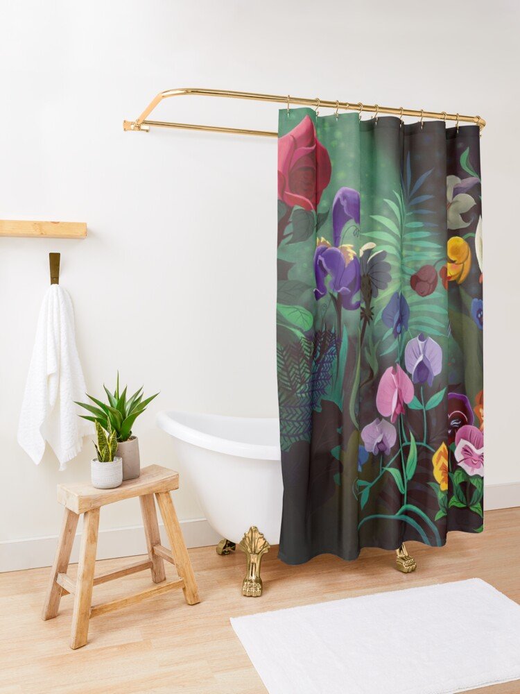 Alternate view of alice Shower Curtain