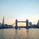 Tower Bridge Sunset by Ludwig Wagner
