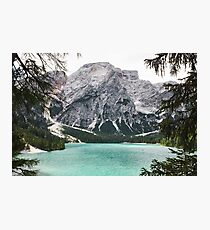 Live the Adventure - Lago Di Braies XIV Photographic Print