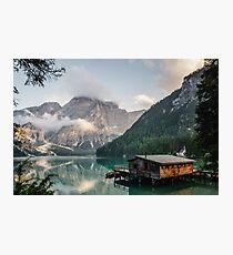 Live the Adventure - Lago Di Braies VII Photographic Print