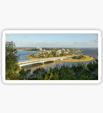 Narrows Bridge & Mill Point, Swan River, Perth Sticker