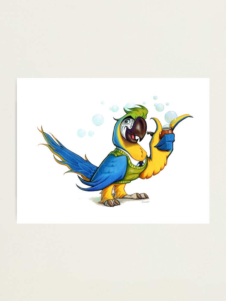 Alternate view of Professor Macaw. Photographic Print