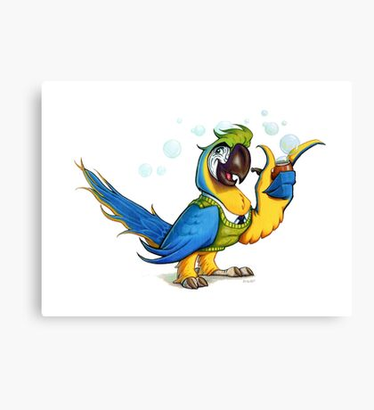 Professor Macaw. Canvas Print