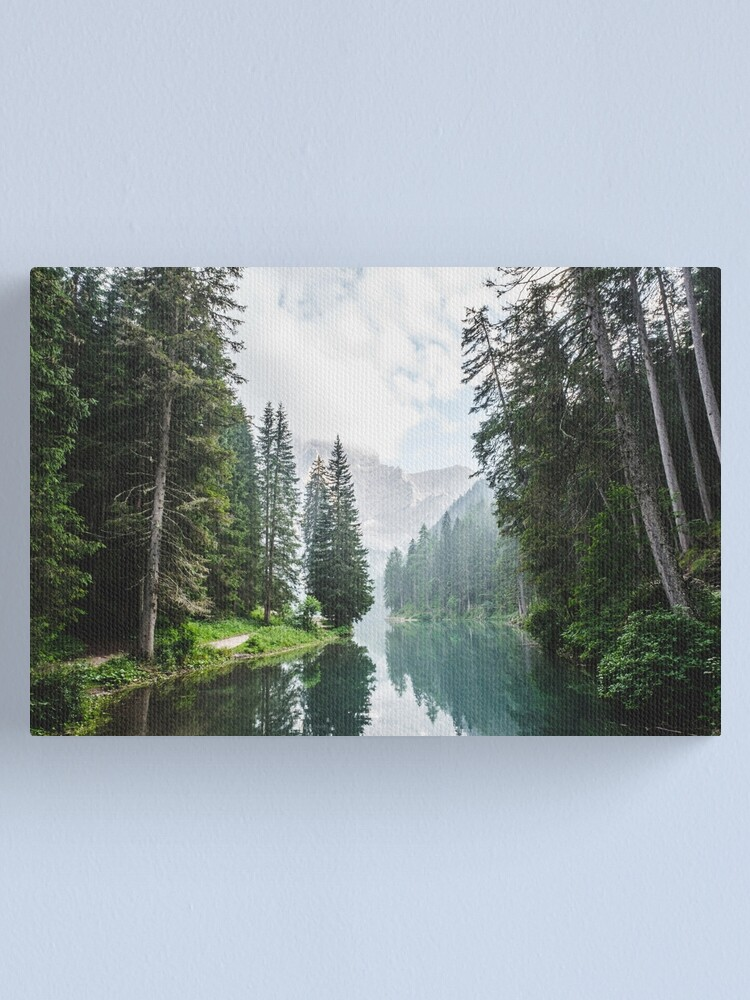 Alternate view of Live the Adventure - Lago Di Braies X Canvas Print