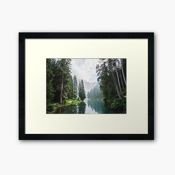 Live the Adventure - Lago Di Braies X Framed Art Print
