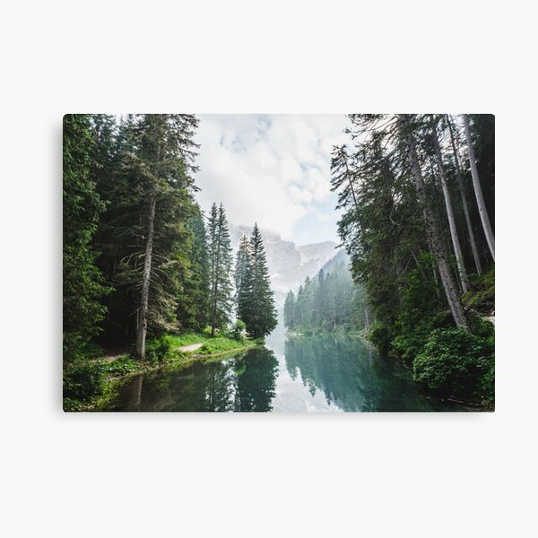 Live the Adventure - Lago Di Braies X Canvas Print