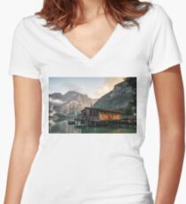 Live the Adventure - Lago Di Braies XI Women's Fitted V-Neck T-Shirt
