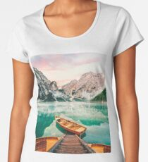 Live the Adventure - Lago Di Braies XVII Women's Premium T-Shirt