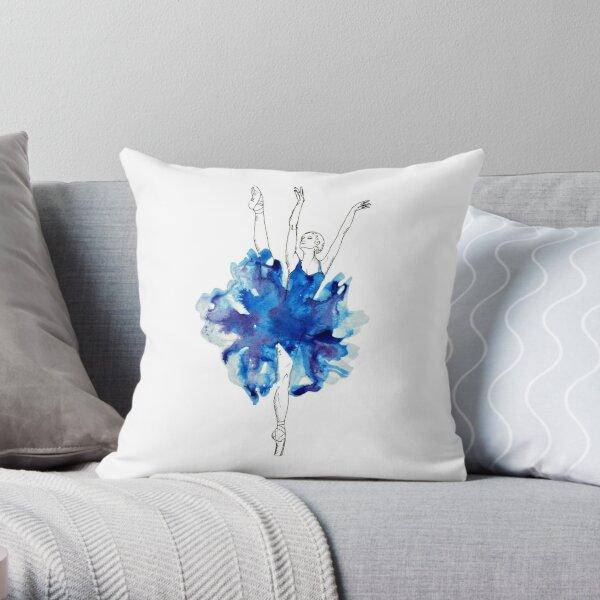 Watercolour Ballerina Throw Pillow