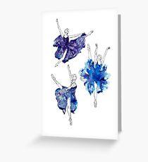 Aquarell Ballerinas Grußkarte