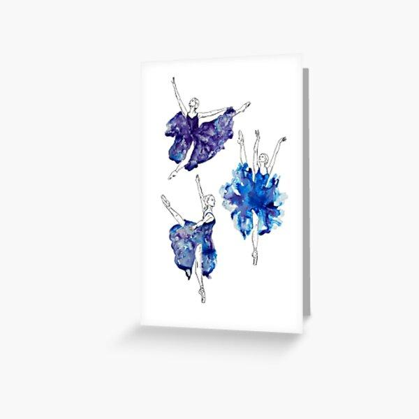 Watercolour Ballerinas Greeting Card