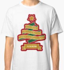 Christmas Tree Ribbon Red Plaid Yuletide Greetings Classic T-Shirt