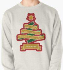 Christmas Tree Ribbon Red Plaid Yuletide Greetings Pullover