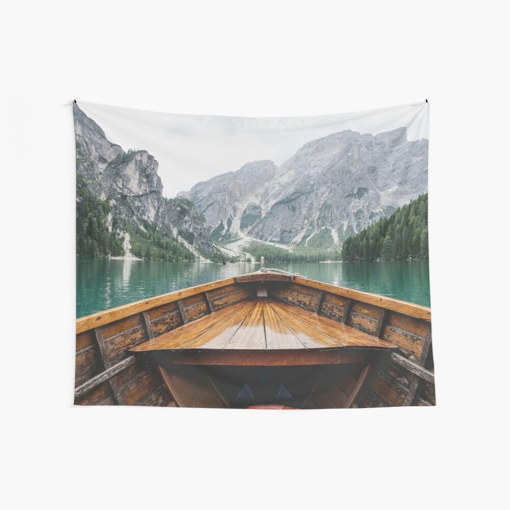 Lebe das Abenteuer - wild und frei Wandbehang