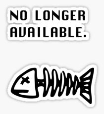 No  Longer Available Sticker