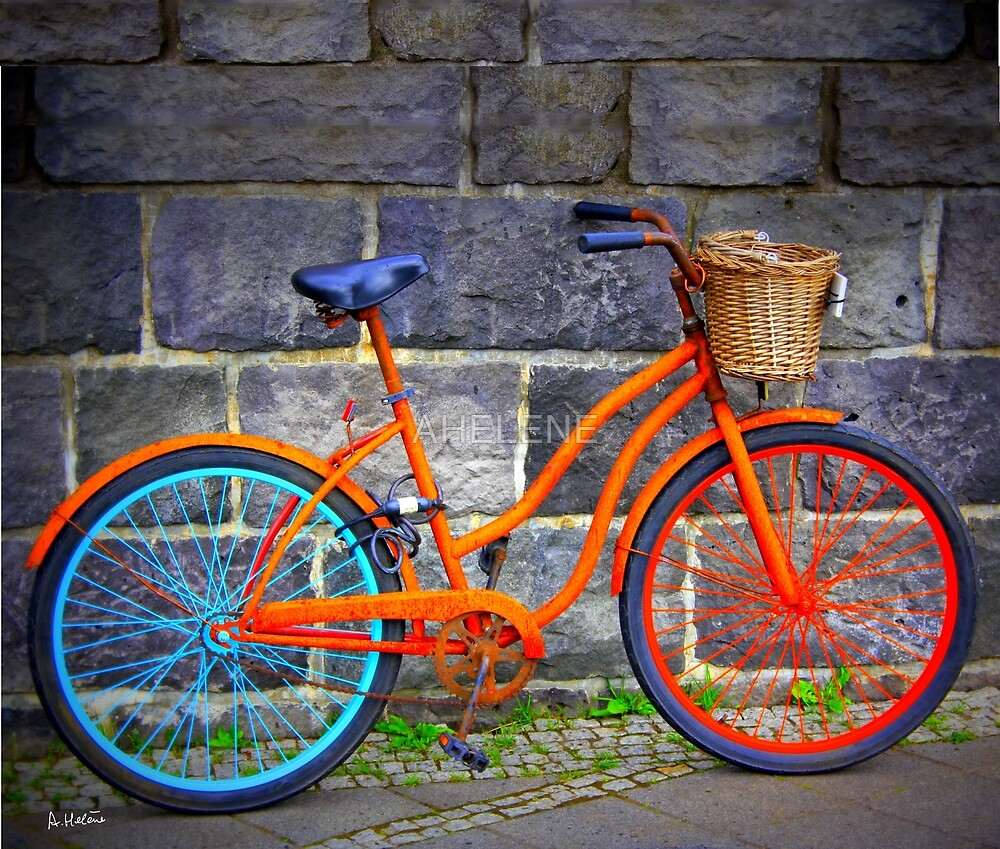 Bicycle in Iceland by AHELENE