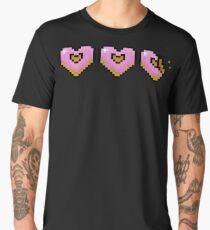Pink Pixel Doughnut Hearts Men's Premium T-Shirt
