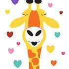giraffe kisses by creativemonsoon