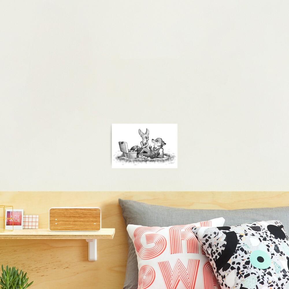 Foxy picnick Photographic Print