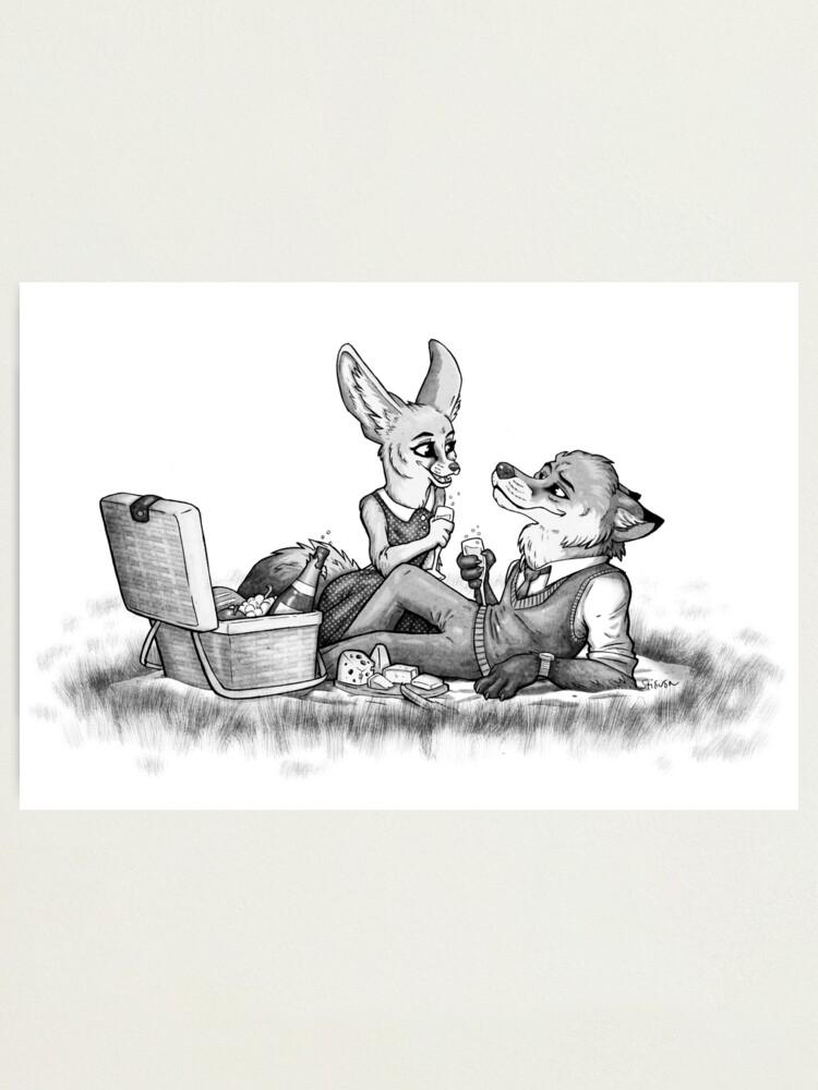 Alternate view of Foxy picnick Photographic Print