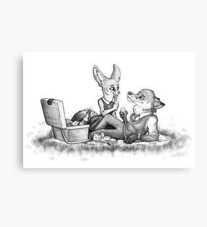 Foxy picnick Metal Print