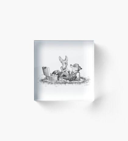 Foxy picnick Acrylic Block