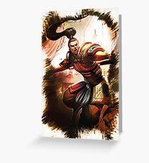 League of Legends XIN ZHAO Greeting Card