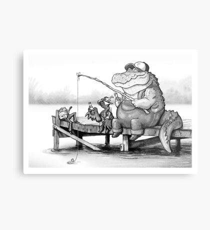 Fishing Buddies Metal Print