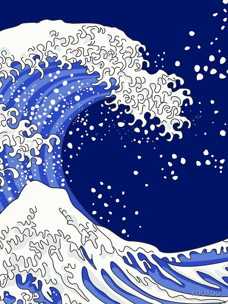 Great Blue Wave by XOOXOO