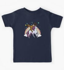 Lazy Sloth Cowboy Riding Unicorn Fantasy Rainbow Kids Clothes