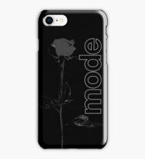 Mode Rose Black iPhone Case/Skin