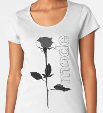 Mode Rose Black Women's Premium T-Shirt