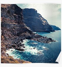 Wild Coast - Tijarafe - La Palma - Canary Islands Poster