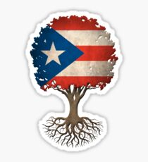 Tree of Life with Puerto Rican Flag Sticker
