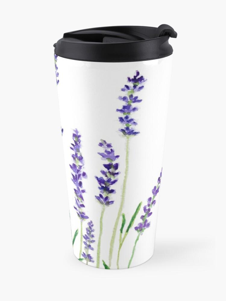 Alternate view of purple lavender  Travel Mug