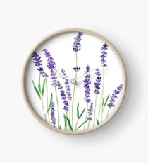 purple lavender  Clock