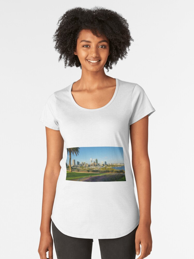 Kings Park, Perth City Skyline, Western Australia Women's Premium T-Shirt Front