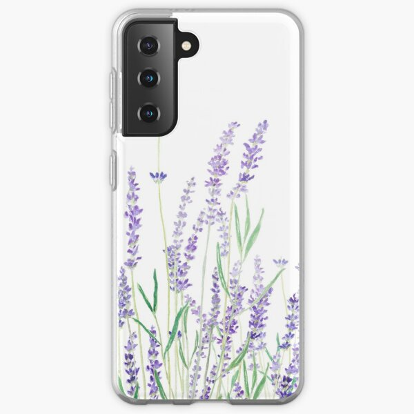 purple lavender  Samsung Galaxy Soft Case