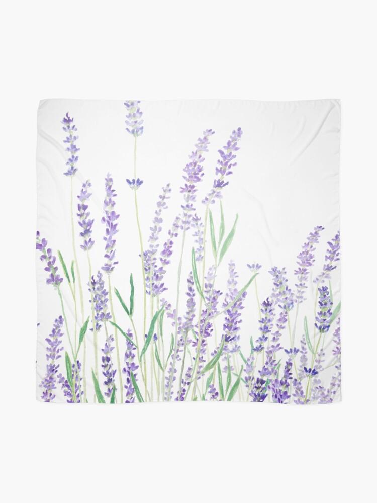 Alternate view of purple lavender  Scarf