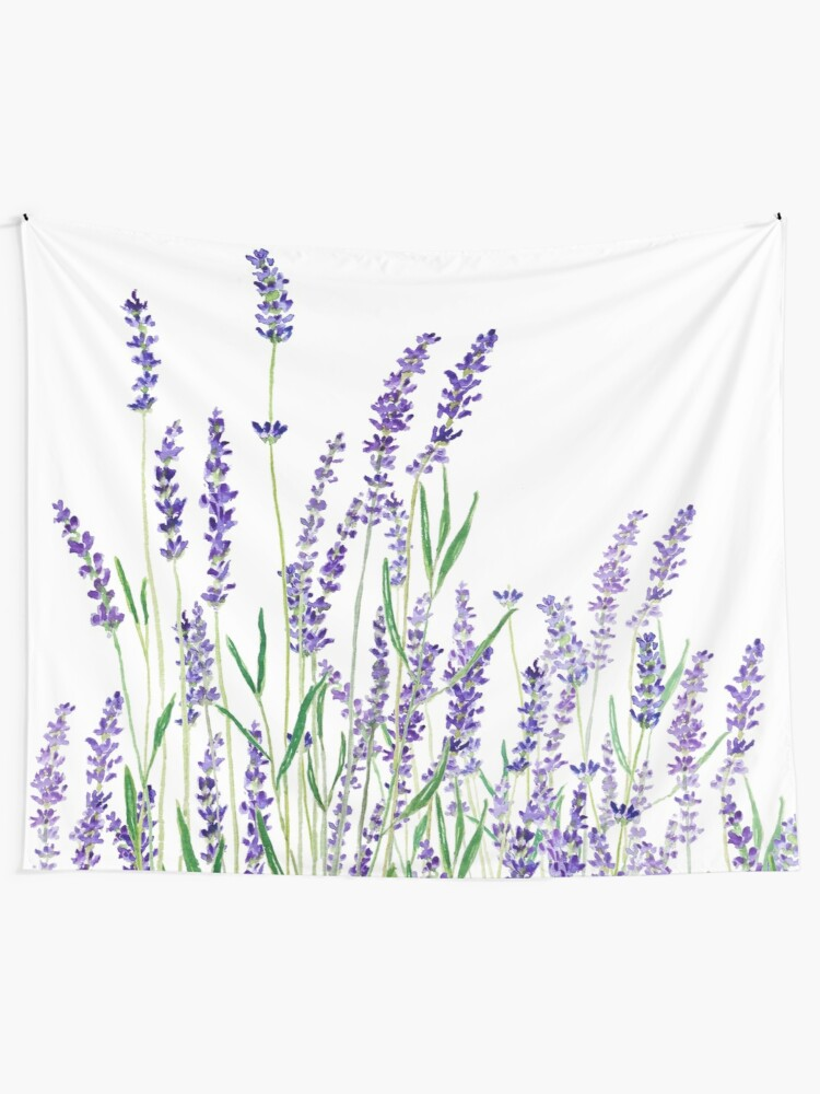 Alternate view of purple lavender  Tapestry